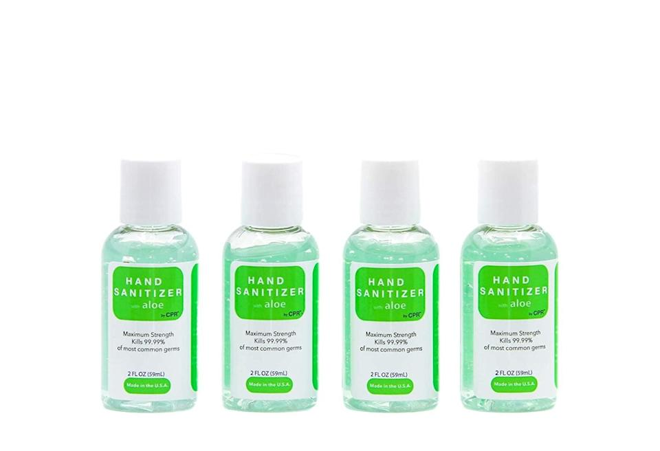 <p>Picking up a pack of <span>Hand Sanitizer Infused With Aloe Vera Gel</span> ($14) for the ride is never a bad choice, especially if they're small and easy to carry. Not only will the cleanser keep your hands stick-free after a messy snack, but they will prevent your incessant need for napkins.</p>