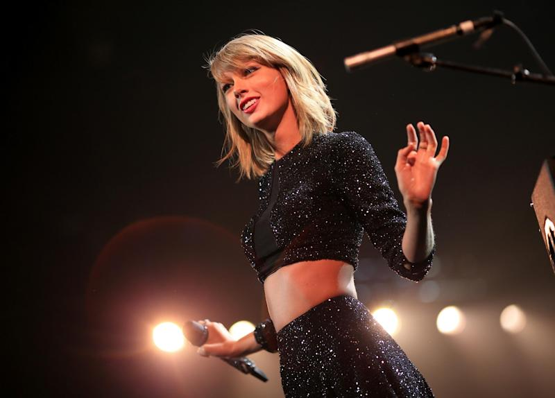 Taylor Swift performs in Los Angeles in 2014: Getty