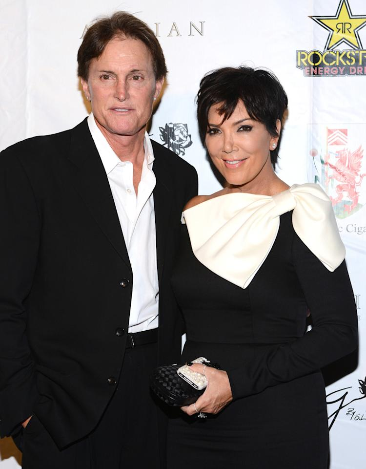 BEVERLY HILLS, CA - SEPTEMBER 15: Bruce Jenner and Kris Jenner arrive at the Brent Shapiro Foundation: The Summer Spectacular  on September 15, 2012 in Beverly Hills, California. (Photo by Araya Diaz/Getty Images)