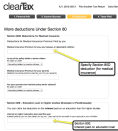 10. More Deductions Under Section 80: You can specify other deductions such as Section 80D (For medical insurance), Section 80E (For Interest paid on education loan), Section 80DD, Section 80U, Section 80CCC, Section 80CCF, Section 80DDB, Section 80GG etc.