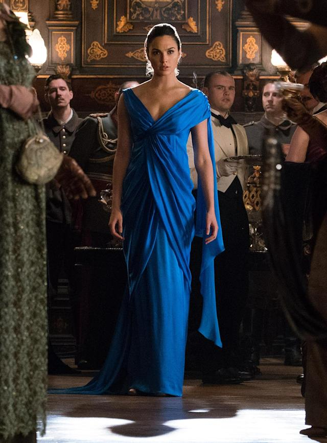 <p>Diana certainly knows how to make an entrance to a gala. (Photo: Warner Bros.)<br> </p>  <p>Dance of Doom</p><p> Diana has her sword handy as she looks for an opportunity to strike down the general. (Photo: Warner Bros.)<br> </p>  <p>Reinforcements</p><p> Chief, Charlie, Sameer, and Steve follow Wonder Woman into battle. (Photo: Warner Bros.)<br> </p>  <p>The Team</p><p> Sameer, Steve, Wonder Woman, Chief, and Charlie strike a post-battle pose. The resulting photo will be unearthed decades later by Lex Luthor (in <em>Batman v Superman</em>) and eventually returned to Diana by Bruce Wayne. (Photo: Warner Bros.)<br> </p>