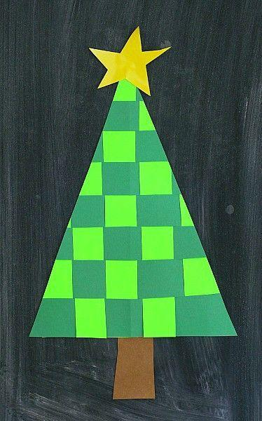 """<p>Use two sheets of paper in contrasting greens to make this project, in which kids weave strips to create cheerful Christmas trees for wallhangings or cards.</p><p><em><a href=""""https://buggyandbuddy.com/christmas-crafts-kids-woven-paper-christmas-tree/"""" rel=""""nofollow noopener"""" target=""""_blank"""" data-ylk=""""slk:Get the tutorial at Buggy and Buddy"""" class=""""link rapid-noclick-resp"""">Get the tutorial at Buggy and Buddy </a></em></p>"""