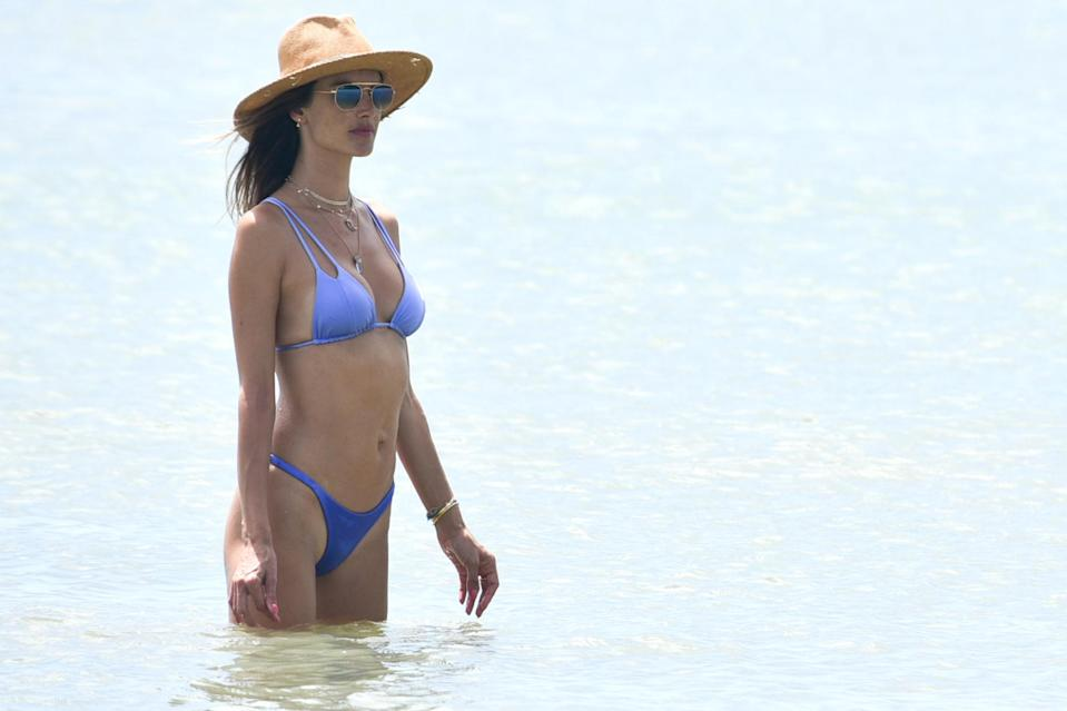 <p>Alessandra Ambrosio has a beach day with her family in her native Brazil.</p>
