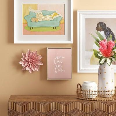 <p>This <span>Just as You are Framed Canvas</span> ($10) is a sweet daily reminder.</p>