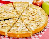 """<p><a href=""""https://www.thedailymeal.com/cook/our-50-best-cookie-recipes-slideshow?referrer=yahoo&category=beauty_food&include_utm=1&utm_medium=referral&utm_source=yahoo&utm_campaign=feed"""" rel=""""nofollow noopener"""" target=""""_blank"""" data-ylk=""""slk:Calling all cookie fans"""" class=""""link rapid-noclick-resp"""">Calling all cookie fans</a>, this apple treat is a cookie turned into a pie, made with Granny Smith apples and a creamy vanilla glaze. Cut into slices and serve it the same way you'd serve a pie.</p> <p><a href=""""https://www.thedailymeal.com/recipe/apple-cinnamon-cookie-pie?referrer=yahoo&category=beauty_food&include_utm=1&utm_medium=referral&utm_source=yahoo&utm_campaign=feed"""" rel=""""nofollow noopener"""" target=""""_blank"""" data-ylk=""""slk:For the Apple Cinnamon Cookie Pie recipe, click here."""" class=""""link rapid-noclick-resp"""">For the Apple Cinnamon Cookie Pie recipe, click here.</a></p>"""