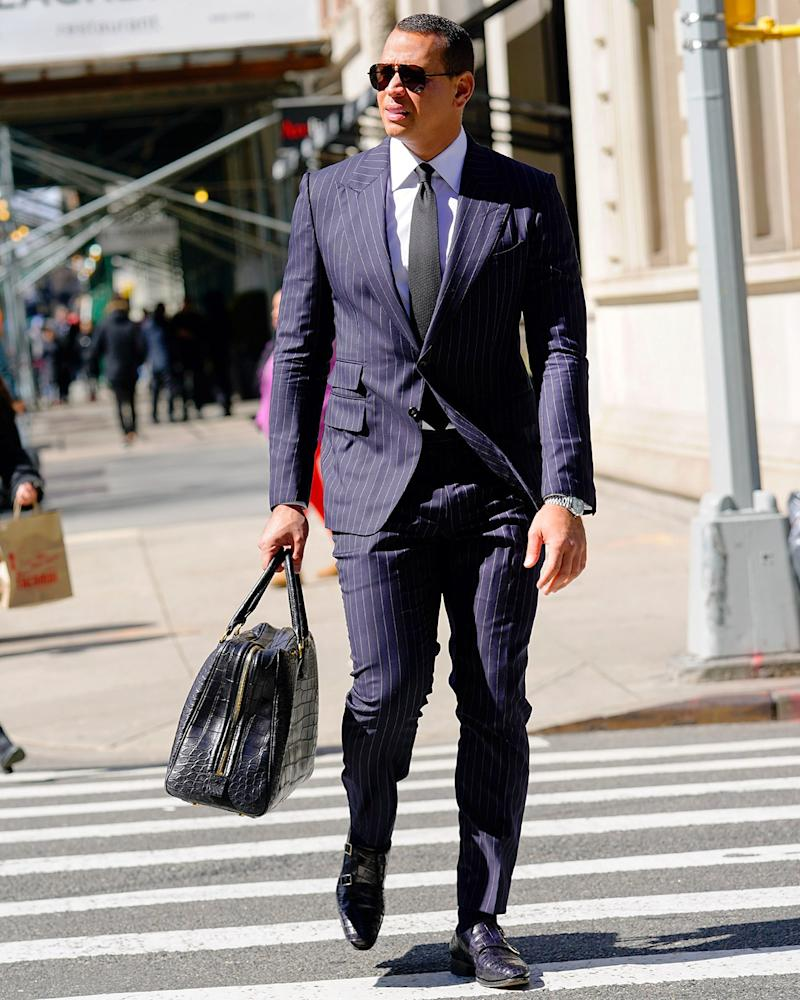 Alex Rodriguez still knows how to wear pinstripes.