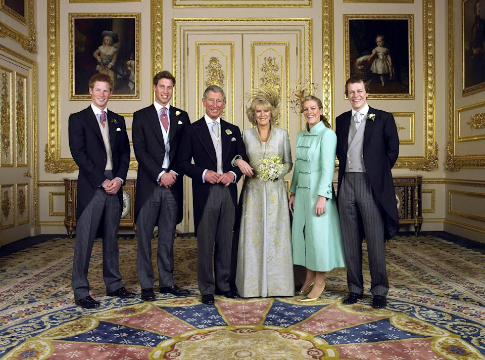 Camilla is a proud grandmother of five, with her daughter Laura being mum to nine-year-old Eliza and eight-year-old twins, Gus and Louis and the Duchess' son, Tom, being father to 11-year-old Lola and eight-year-old Freddie Parker Bowles. Photo: Getty Images
