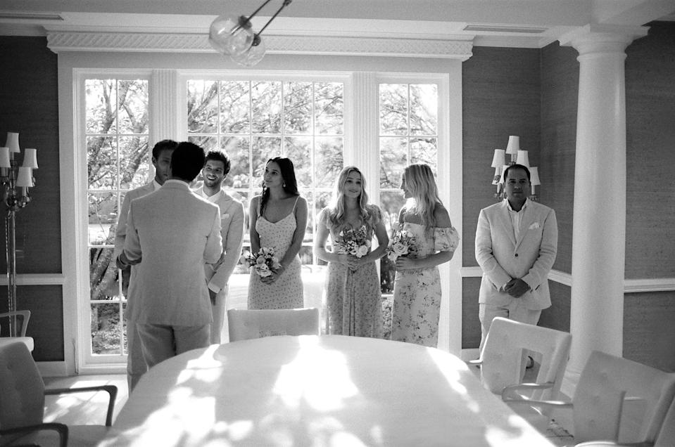 Before the wedding ceremony, our rabbi gathered our families and wedding party together for the ketubah signing. It was such a special moment for us to be surrounded by so much love.
