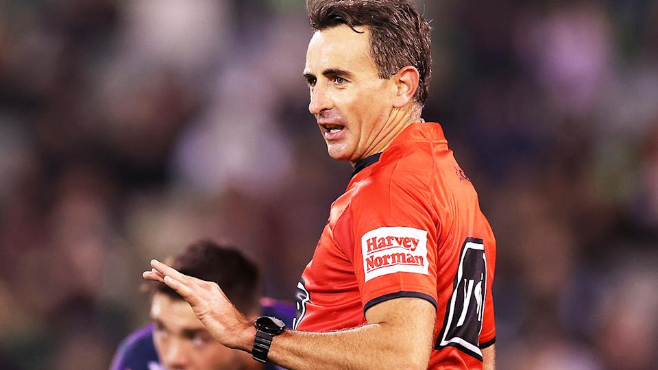 Gerard Sutton, pictured here in action during a Melbourne Storm game.