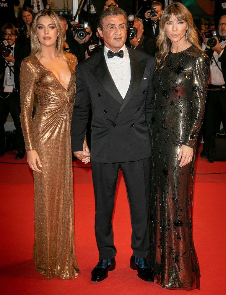 Sylvester Stallone with daughter Sistine and wife Jennifer