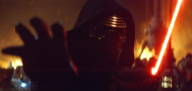 Adam Driver as Kylo Ren in <em>The Force Awakens</em>. (Photo: Disney/Lucasfilm) <br>