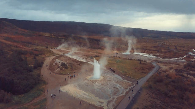 <p>Views of geothermal spa locations and endless lava fields from the Land of Fire and Ice. (Photo: Ran Rosenzweig/Caters News) </p>