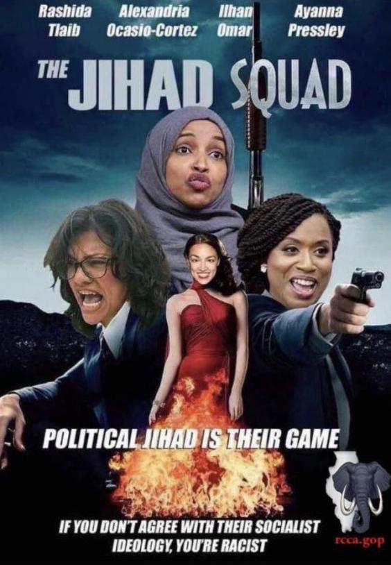 The 'Jihad Squad' poster that the Republican leaders' group posted on their official Facebook page (@kenvogel on Twitter)