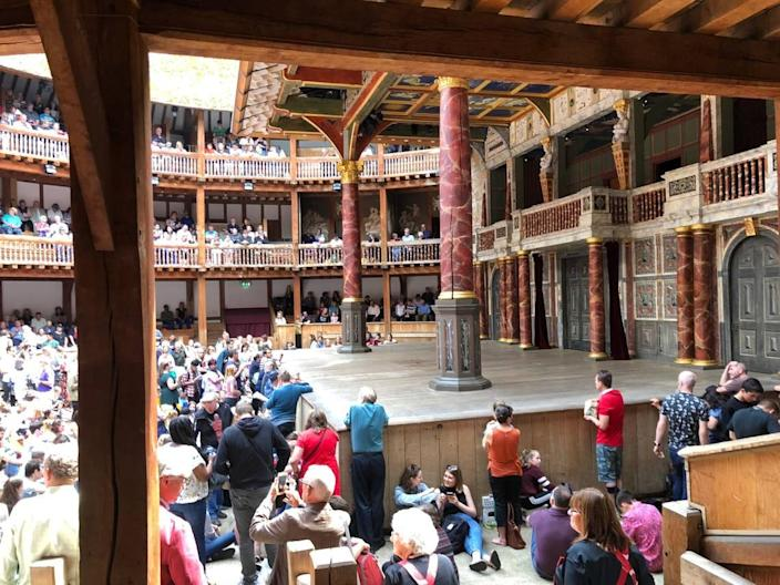 """Shakespeare's Globe theater in London just finished streaming for free """"Hamlet"""" with a male Ophelia and a female Hamlet. The upcoming """"Romeo and Juliet"""" and """"A Midsummer Night's Dream"""" each will run for two weeks."""
