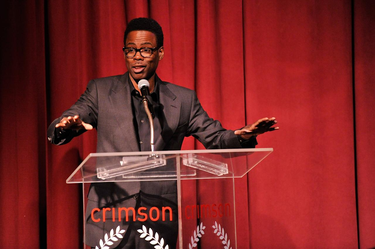 NEW YORK, NY - JANUARY 07:  Comedian and actor Chris Rock speaks onstage at the 2012 New York Film Critics Circle Awards at Crimson on January 7, 2013 in New York City.  (Photo by Stephen Lovekin/Getty Images)