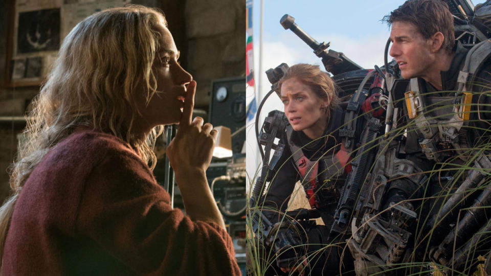 'A Quiet Place' and 'Edge of Tomorrow'. (Credit: Paramount/Warner Bros)