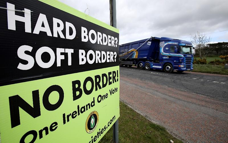 Britain says it would not immediately apply customs checks on the border with Ireland, to avoid raising tensions in the once conflict-ridden province of Northern Ireland (AFP Photo/PAUL FAITH)
