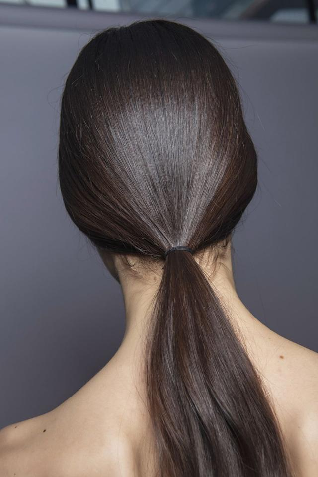 <p>There were very few shows that didn't do a version of the prim and proper ponytail this season. This classic is in everyone's repertoire, but the way to pony perfection is a nourished scalp. </p>