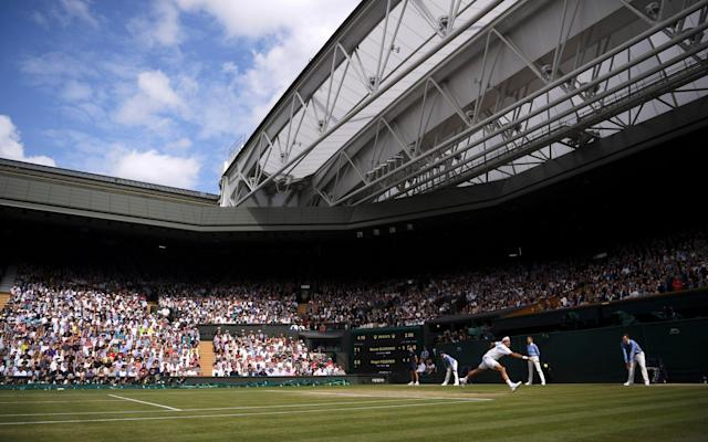 Major sporting venues and events, like Wimbledon, have taken steps to reduce waste - POOL Getty