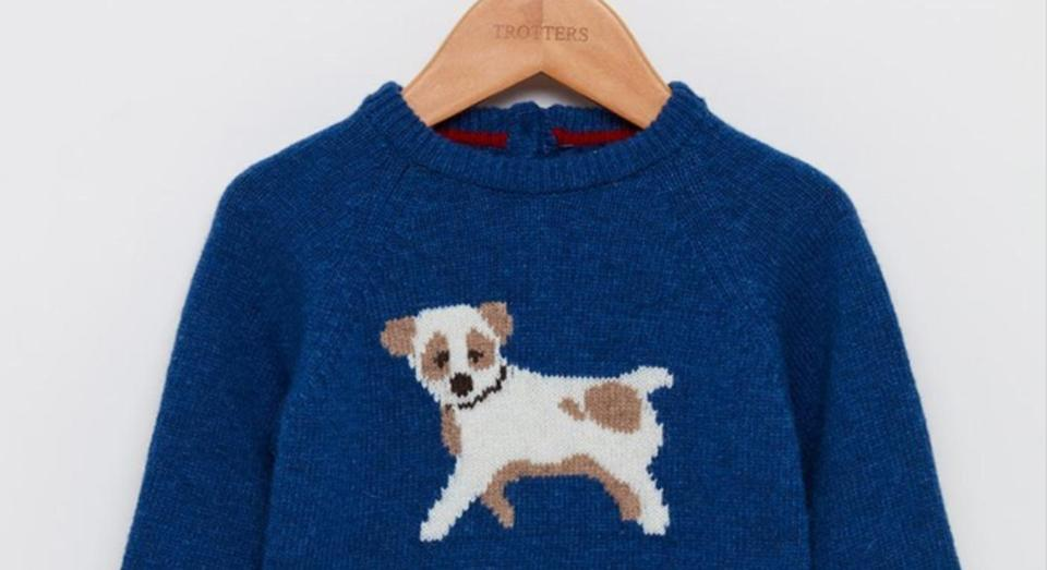 The jumper, from high-street chain, Trotters, sold out within hours. [Photo: Trotters]