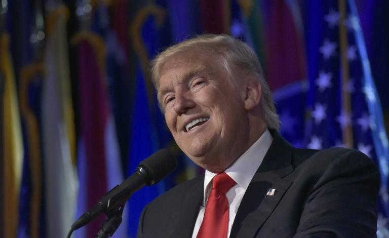 Powered by Facebook: President Donald Trump on the night of his 2016 election victory, which was helped by a massive social media database