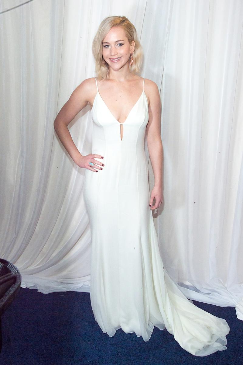 """A photo of actress Jennifer Lawrence at the """"Joy"""" New York Premiere at Ziegfeld Theater on December 13, 2015 in New York City."""