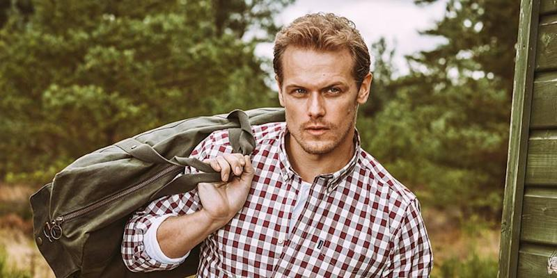 well known cute cheap authorized site Barbour Just Debuted a New Ad with Outlander 's Sam Heughan