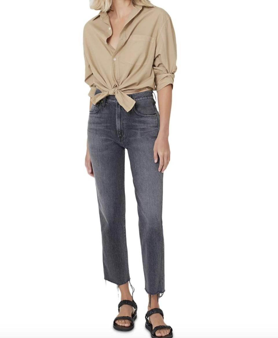 <p>These comfortable <span>Citizens of Humanity Daphne Raw Hem High Rise Jeans</span> ($198) are ideal for every day. We hem details gives them a little bit of edge, too.</p>