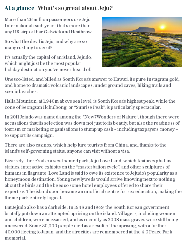 At a glance | What's so great about Jeju?