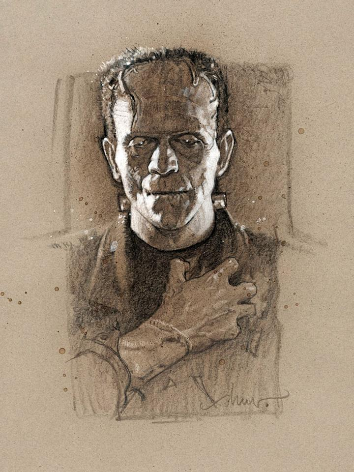 """Frankenstein's Monster"" by Drew Struzan"