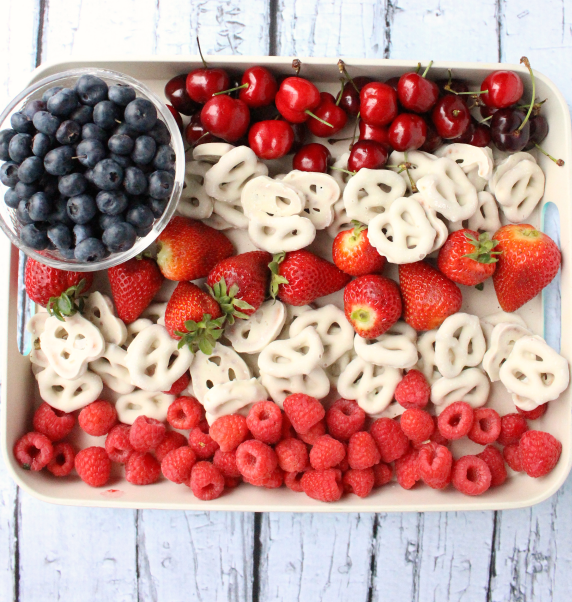 Flag fruit dessert (Family Fresh Meals)
