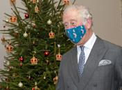 <p>Prince Charles sports a face mask during an end-of-year visit to the Royal Mail.</p>