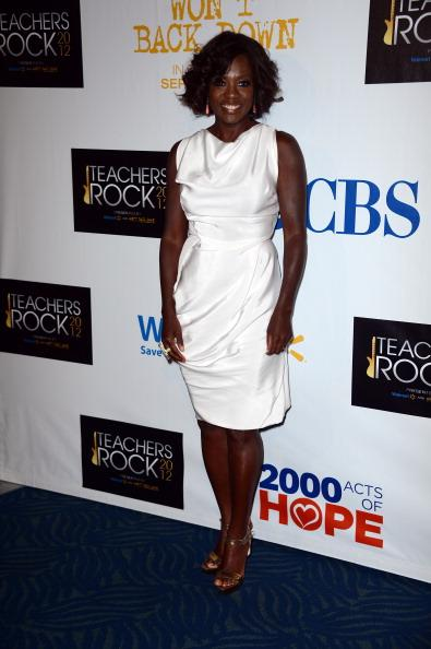Actress Viola Davis attends CBS' Teacher's Rock Special Live Concert Press Room at Nokia Theatre L.A. Live on August 14, 2012 in Los Angeles, California. (Photo by Frazer Harrison/Getty Images)