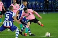 Lionel Messi and Barcelona could not get the better of 10-man Alaves and are now four La Liga games without a win