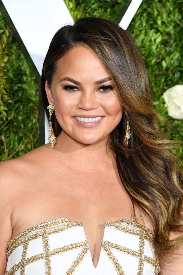 "<p>At the 2017 Tony Awards, Chrissy Teigen showed up with noticeably darker and glossier strands. But the subtle golden lowlights scattered throughout come from using a coloring technique known as painting, which requires free hand and brush work as opposed to meticulous foiling. In order to keep the lighter ends from showing any damage, seal in a blow-dry with a serum like Fekkai Blowout Sealing Serum ($20; <a rel=""nofollow"" href=""https://www.fekkai.com/shop/blowout-sealing-serum"">fekkai.com</a>)</p>"