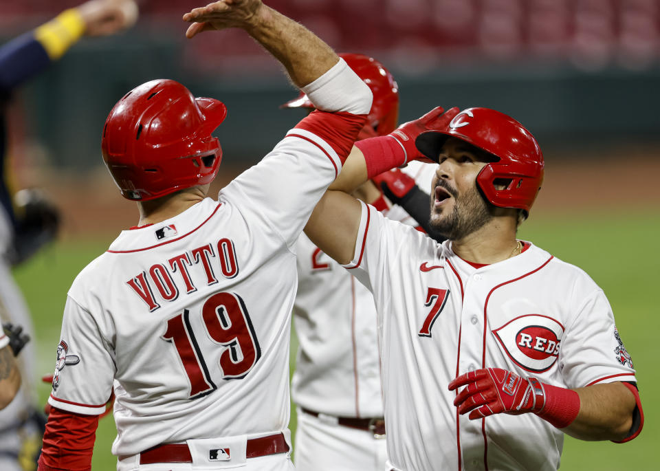 The Cincinnati Reds are headed to the MLB postseason for the first time since 2013. (Photo by Michael Hickey/Getty Images)