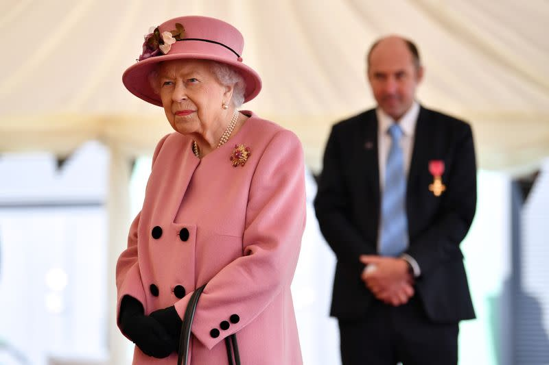 Queen, 94, makes first outing in seven months to visit secret defence laboratory