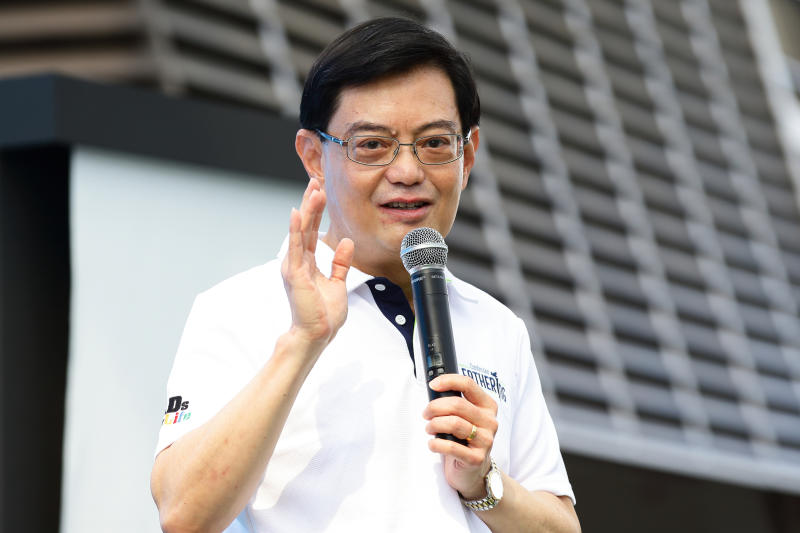 Deputy Prime Minister and Finance Minister Heng Swee Keat at an event at the Singapore Sports Hub on June 16, 2019. (Photo: Getty Images)