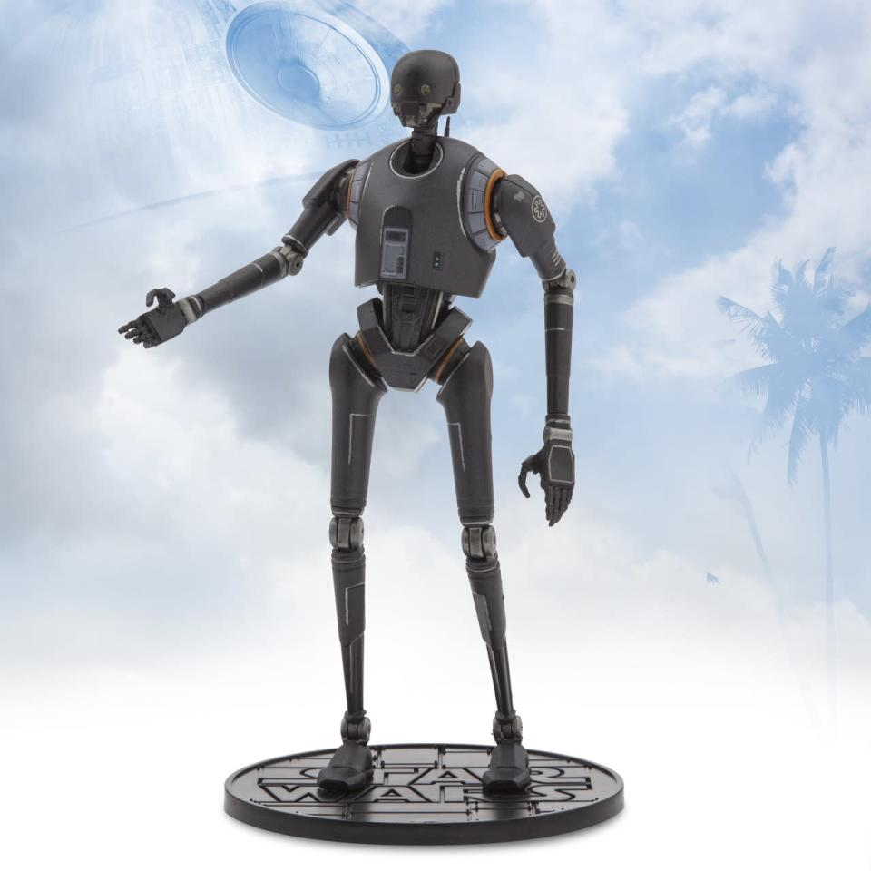 <p>In the film, Alan Tudyk gives voice to this reprogrammed Imperial security droid. K-2SO is shaping up to be on of the more popular characters, along with Jyn and the Death Trooper. <i> ($26.95)</i></p>