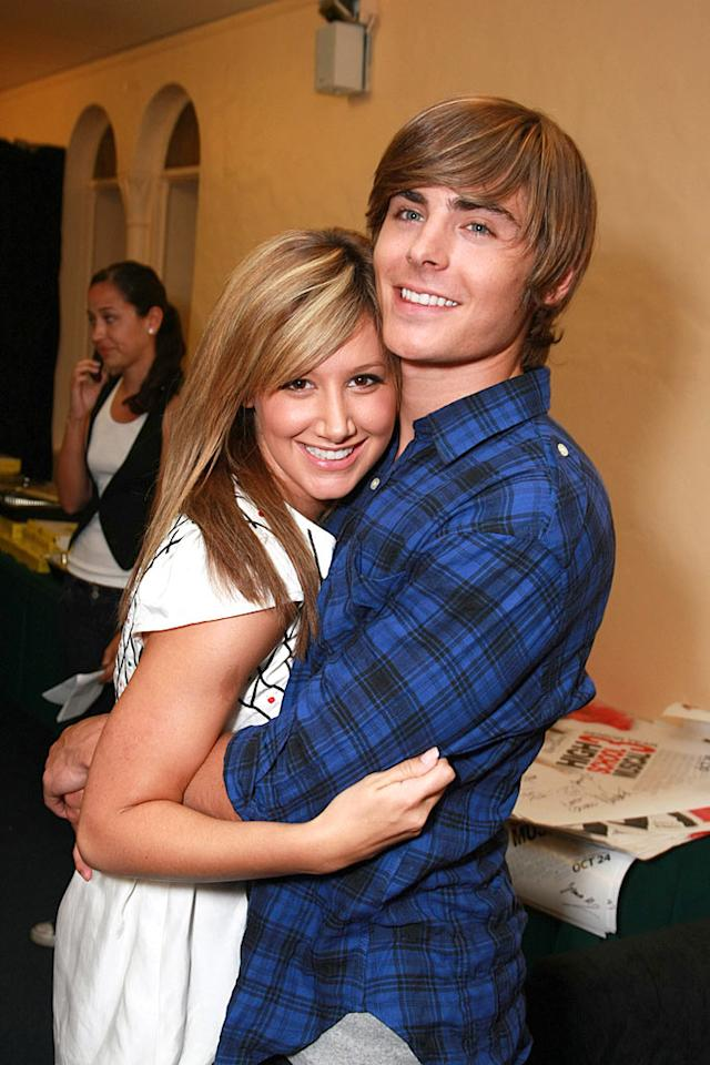 "Aren't tween titans Ashley Tisdale and Zac Efron painfully sweet? They give us tummy aches, but we can't get enough. Eric Charbonneau/<a href=""http://www.wireimage.com"" target=""new"">WireImage.com</a> - August 23, 2008"