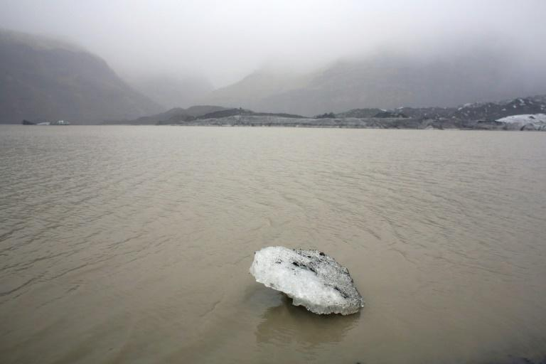 Glaciers cover about 11 percent of Iceland's surface (AFP Photo/THIBAULT CAMUS)