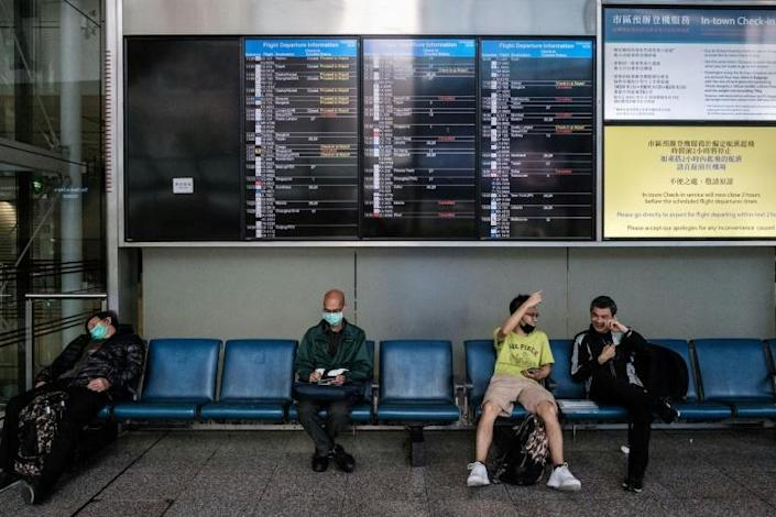 The coronavirus has all but obliterated international travel (AFP Photo/ANTHONY WALLACE)