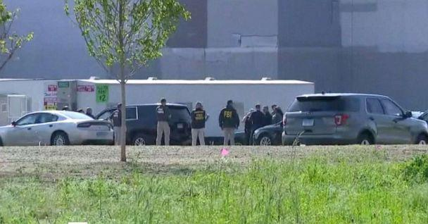 PHOTO: FBI members investigate a noose was discovered at an Amazon construction site in Windsor, Conn., May 19, 2021. (WTNH)