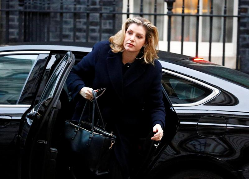 Brexiteer Cabinet minister Penny Mordaunt arrives in Downing Street for a briefing on Wednesday (Henry Nicholls/Reuters)