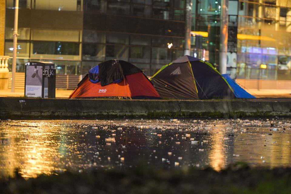 """West Midlands Police has faced criticism for """"targeting"""" homeless people who are outdoors during the lockdown.  (Photo: NurPhoto via Getty Images)"""
