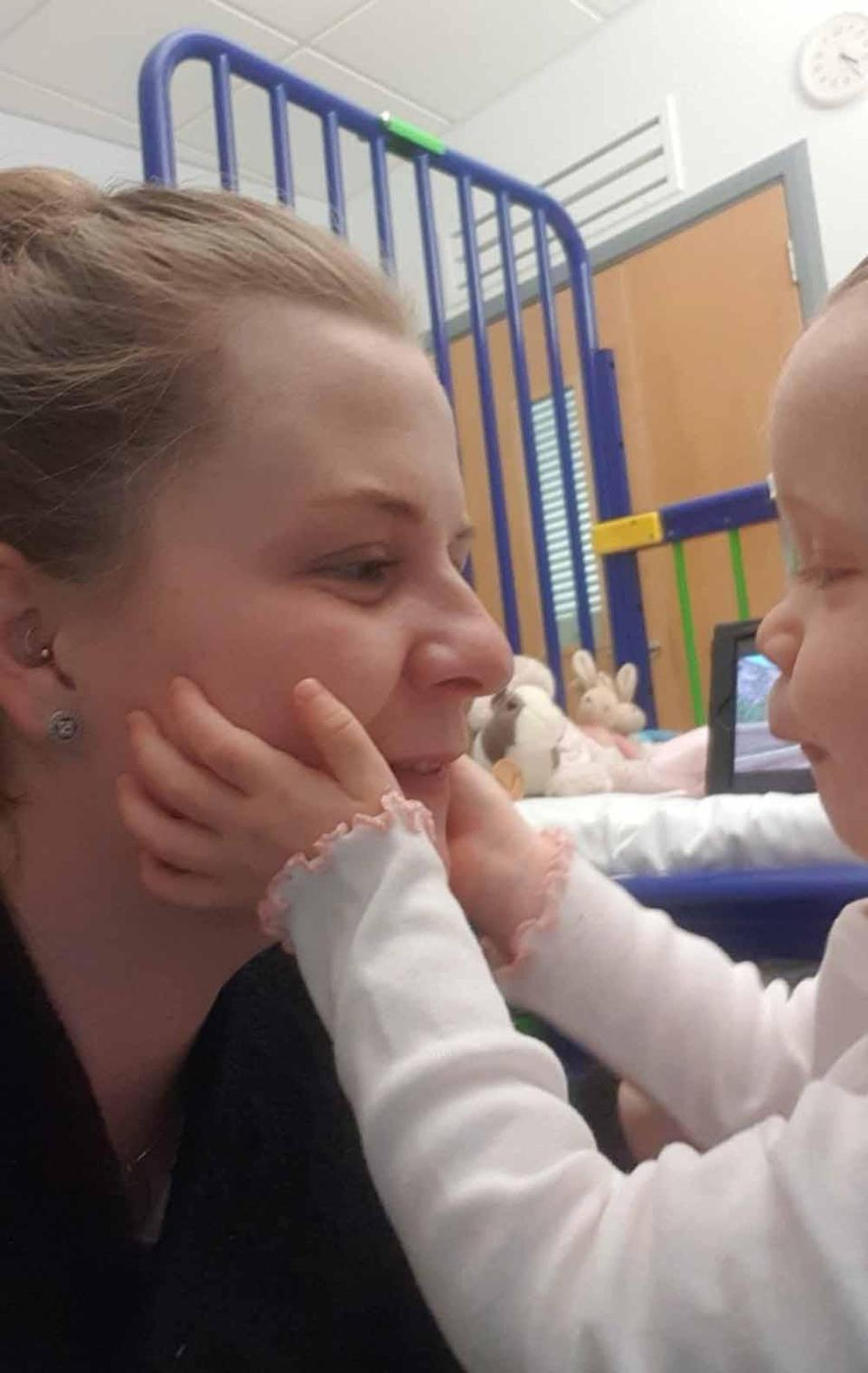 Evie with her mum Kara. PA REAL LIFE COLLECT