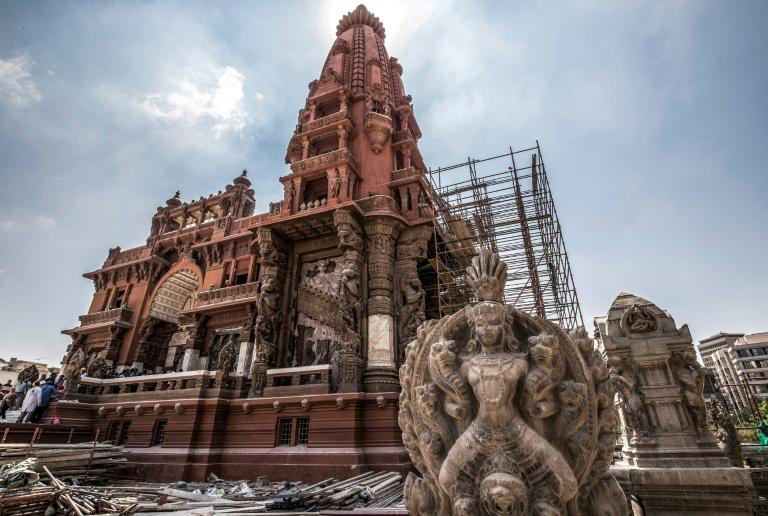 Restoration works began on the palace in July 2017 and are expected to cost 100 million pounds (over $6 million) (AFP Photo/Khaled DESOUKI)