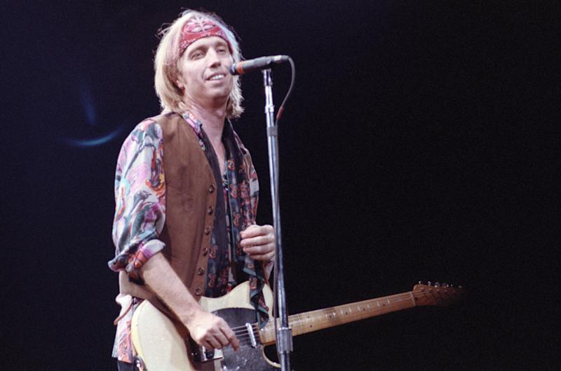 Performing on The Great Wide Open Tour in Bloomington, MN on Sept. 4, 1991.