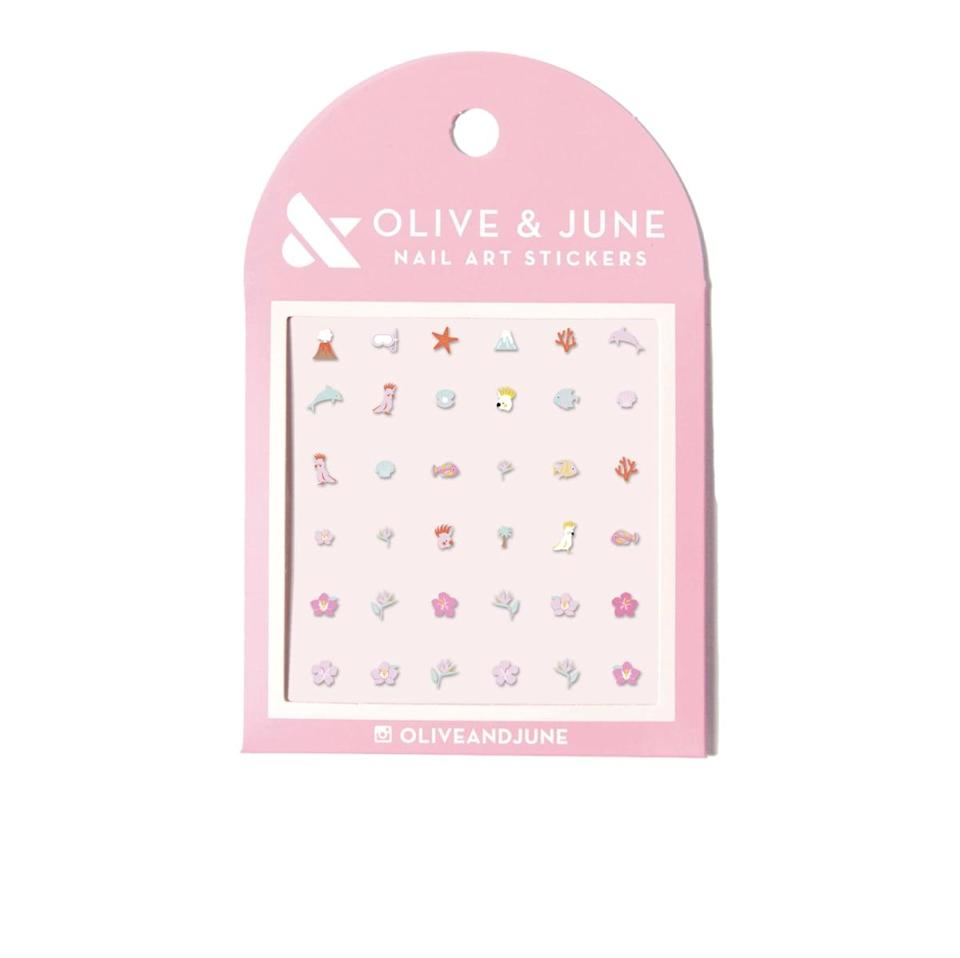 <p>Get creative with your manicures and pedicures with the <span>Olive &amp; June Nail Paradise Nail Stickers</span> ($8). If you haven't mastered nail art, these will help you out!</p>