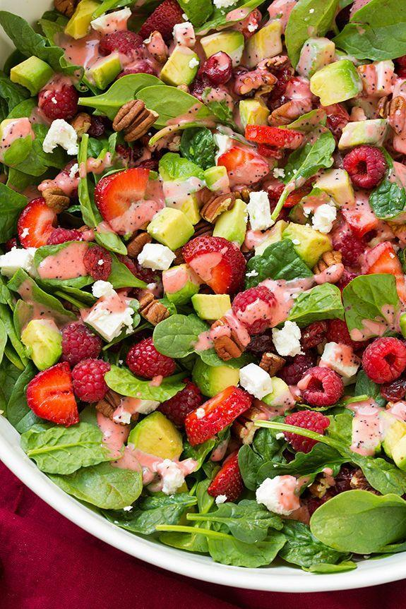 "<p><span>Antioxidants + healthy fats all in one. Winning all around.</span></p><p><span>Get the recipe from </span><a href=""http://www.cookingclassy.com/2015/04/strawberry-raspberry-cranberry-avocado-spinach-salad-with-strawberry-poppy-seed-dressing/"" rel=""nofollow noopener"" target=""_blank"" data-ylk=""slk:Cooking Classy"" class=""link rapid-noclick-resp"">Cooking Classy</a><span>.</span><br></p>"